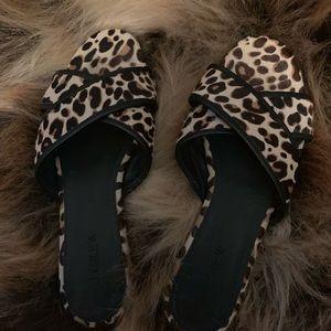 Cheetah flat sandals